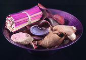 Purple Pot-pourri in Bowl — Stock Photo