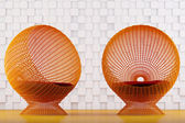 Relaxing rattan chairs — Stock Photo