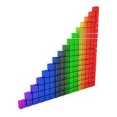 Gráfico de cristal del arco iris — Foto de Stock