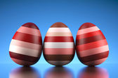 Shiny happy Easter eggs — Stock Photo