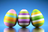 Happy colored Easter eggs — Stock Photo