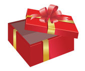 Open Gift Box — Stock Vector