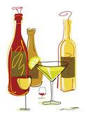 Bebidas y cócteles — Vector de stock