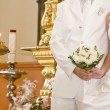 Wedding in Orthodox church — Stock Photo