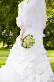 Bride from the back side — Stock Photo