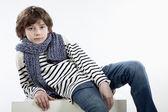 Boy with scarf, Junge mit Schal — Stock Photo