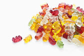 Fruit gums, Gummibärchen — Stock Photo