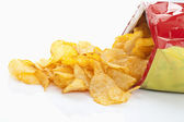 Bag Potatoe chips, Kartoffelchips — Stock Photo