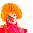 Girl clown in colorful costume — Stock Photo #5343414