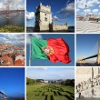 Collage of Lisbon sights - Stock Photo