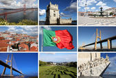 Collage of Lisbon sights — 图库照片