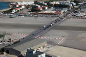 View over Gibraltar airport — Stock Photo