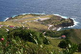 Saba island in the Caribbean — Foto Stock