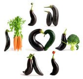Playful vegetables — Stock Photo