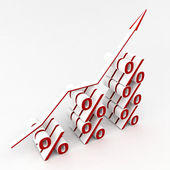 Percent graph isolated — Stock Photo