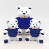 Bear toys isolated — Stock Photo