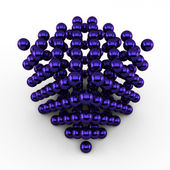 Violett abstract energy cube — Stock Photo