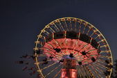 Riesenrad und KArussell — Stock Photo