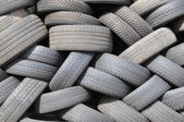 Worn tyres — Stock Photo