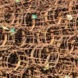 Round concrete reinforcement cages — Stock Photo
