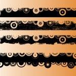 4 Black Grunge Strips 2 — Stock Vector