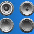 Stock Vector: 4 Loudspeakers 5