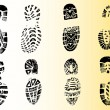 Stock Vector: 8 Detailed Shoeprints 2