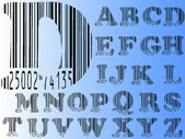 Barcode Alphabet — Stock Vector