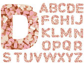 Candy Alphabet — Stock Vector