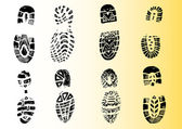 8 Detailed Shoeprints 2 — Stock Vector
