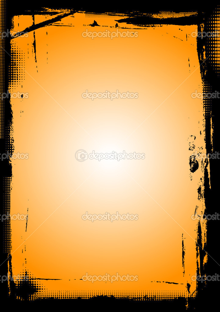 Page Borders Orange Full Page Black Border With