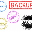 5 Grunge Stamps - Backup - Stock Vector