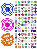 105 Vector Circle Elements — Stock Vector