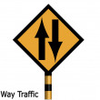 Two way traffic — Stock Photo