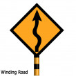 Left winding road — Stock Photo