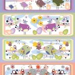 Royalty-Free Stock Vector Image: Easter banners