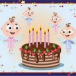 Royalty-Free Stock Vector Image: Birthday, background