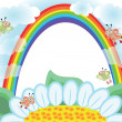 Royalty-Free Stock Vector Image: Flower and rainbow