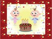 Birthday, background — Stock Vector