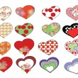 Royalty-Free Stock Vector Image: Set hearts
