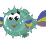 Balloonfish — Stock Vector