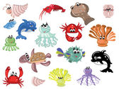 Sea animals — Wektor stockowy