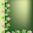 Frame with clover - Stock Vector