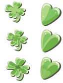 Clovers and hearts — Stock Vector