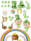 St. Patricks day icons — Stock Vector