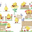 Easter icons - Imagen vectorial