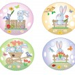 Easter icons — Stock Vector #5123635
