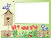 Easter: frame — Stock Vector