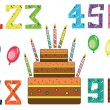Royalty-Free Stock Photo: Birthday set