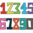 Numbers set — Stock Photo